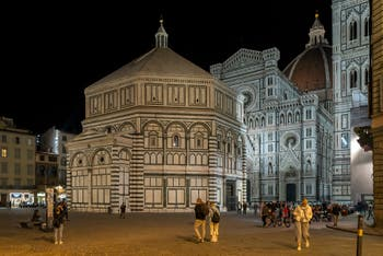 The Baptistery of San Giovanni in Florence in Italy