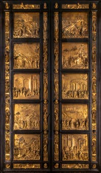 The Baptistery's Gate to Paradise in Florence in Italy