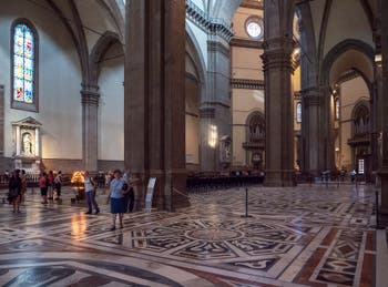 Florence Duomo's Polychrom marble floor, Santa Maria del Fiore Cathedral in Italy
