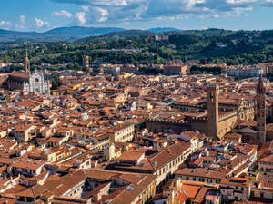 View of Florence, Santa Croce Church and Bargello Museum, from Brunelleschi's Dome