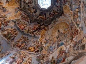 Last Universal Judgment Frescoes of Brunelleschi's Dome in Florence's Duomo, the Santa Maria del Fiore Cathedral, by Giorgio Vasari and Federico Zuccari.