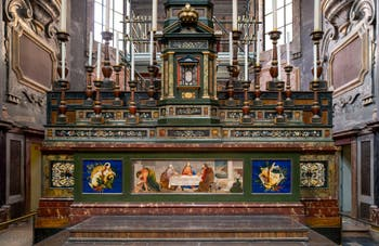 The Altar in hard stones in the Medici Chapel of Princes in Florence in Italy