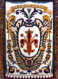 Coat of Arms of Florence in Tuscany in the Chapel of the Princes Medici