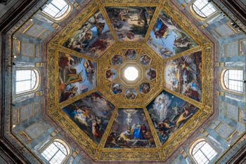 Dome's Frescoes of the Chapel of the Princes in Florence in Italy