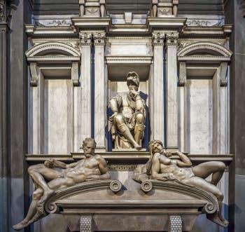 Michelangelo New Sacristy Sagrestia Nuova in Florence in Italy