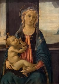 Botticelli, Virgin of the Sea, at the Accademia Gallery of Florence