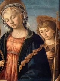 Botticelli, Virgin and Child with the Young Saint John the Baptist and two angels, at the Accademia Gallery in Florence