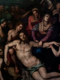 Agnolo Tori il Bronzino, Deposition of Christ, at the Accademia Gallery in Florence