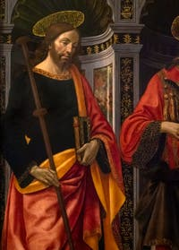 Domenico Ghirlandaio, Saint Stephen between Saint James and St. Peter, at the Accademia Gallery in Florence