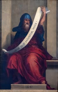 Fra Bartolomeo, Prophet Job, at the Accademia Gallery in Florence Italy