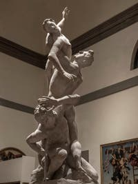 Giambologna, The Rape of the Sabine Women, Accademia Gallery in Florence in Italy