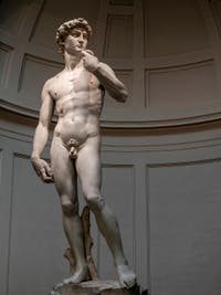 Michelangelo Buonarroti, David, Marble Statue, 1501-1504, Accademia Gallery in Florence Italy