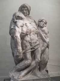 Michelangelo, Palestrina Pietà, Accademia Gallery in Florence in Italy