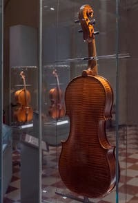 Antonio Stradivarius, Medici Tenor Viola made in Cremona for Grand Duke Ferdinand in 1690, Museum of Musical Instruments of the Accademia Gallery in Florence, Italy