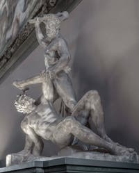 Vincenzo de Rossi, Hercules and Cacus, Hall of the Five Hundred of Palazzo Vecchio in Florence