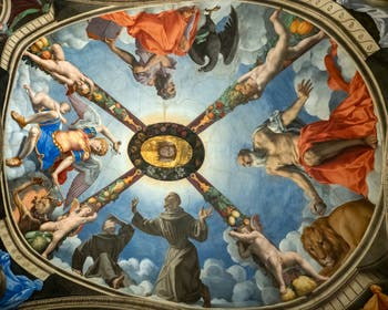 Bronzino, Fresco Chapel of Eleonore of Toledo, Palazzo Vecchio in Florence in Italy