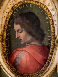 Giorgio Vasari, Portrait of Giuliano de Medici, brother of Lorenzo the Magnificent, Palazzo Vecchio in Florence