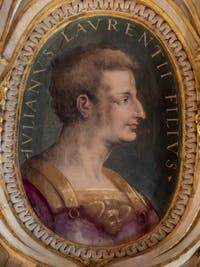 Giorgio Vasari, Portrait of Giuliano de Medici, son of Lorenzo the Magnificent, Palazzo Vecchio in Florence