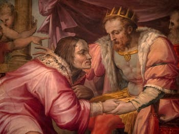Giorgio Vasari, Lorenzo the Magnificent goes to Naples to see King Ferdinand of Aragon, Palazzo Vecchio in Florence