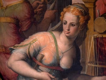 Giorgio Vasari, Penelope at the loom, Penelopoe Room at Palazzo Vecchio in Florence in Italy.
