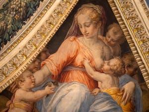 Giorgio Vasari, Pietà, Lorenzo de Medici the Magnificent Room in Palazzo Vecchio in Florence in Italy.