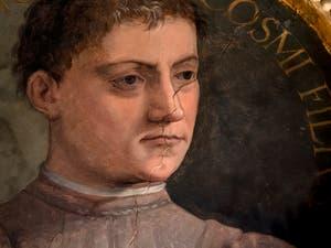 Giorgio Vasari, Portrait of Piero I di Cosimo de' Medici also knows as the Gouty, Palazzo Vecchio in Florence, Italy