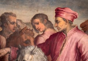 Giorgio Vasari, Return from the exile of Cosimo the Elder, Palazzo Vecchio in Florence, Italy