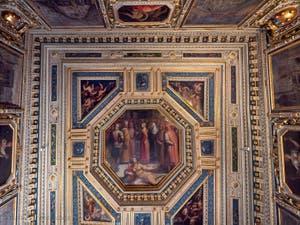 Giorgio Vasari, Gualdrada Room Ceiling, at Palazzo Vecchio in Florence in Italy.