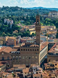 Palazzo Vecchio, The Arnolfo Tower in Florence in Italy