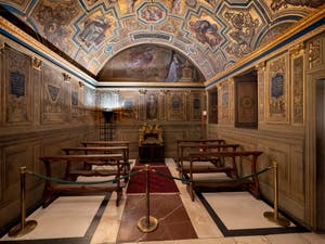 Chapel of the Priors of Ridolfo del Ghirlandaio at the Palazzo Vecchio in Florence in Italy