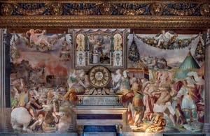 Francesco Salviati, Defeat of the Volsques and Furio Camillo punishes the master of the Falerii for his betrayal, Hall of Hearing of the Palazzo Vecchio in Florence