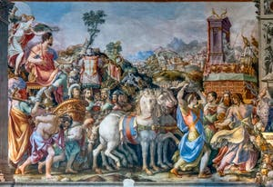 Francesco Salviati, The Triumph of Furio Camillo After the Taking of Veio, Hall of Hearings of the Palazzo Vecchio in Florence
