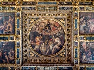 Giorgio Vasari, Allegories of the Districts of Santa Croce and Santo Spirito, Ceiling of the Hall of Five Hundred of Palazzo Vecchio in Florence