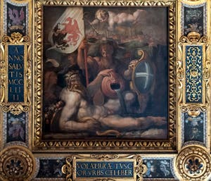 Giorgio Vasari, Allegory of Volterra, Ceiling of the Hall of Five Hundred of Palazzo Vecchio in Florence