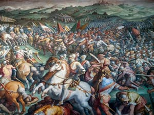 War of Siena, Battle of Marciano or Scannagallo in Val di Chiana, Hall of Five Cents of Palazzo Vecchio in Florence