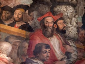 Giorgio Vasari, Election of a new college of cardinals by Pope Leo X, Palazzo Vecchio in Florence Italy