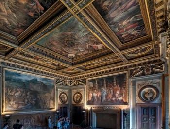 Giorgio Vasari, Hall of Pope Leo X John of Medici, Palazzo Vecchio in Florence Italy