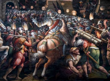 War of Siena, Taking of the Fort of the Porta Camollia, by Giorgio Vasari, Hall of Five Hundred of Palazzo Vecchio in Florence