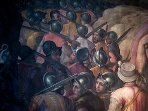 Giorgio Vasari, Taking of the Fortress of San Leo by the Papal Troops, Palazzo Vecchio in Florence Italy