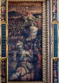 Giorgio Vasari, Taking of Monastero, Ceiling of the Hall of the Five Hundred of Palazzo Vecchio in Florence