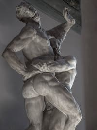 Vincenzo de Rossi, Hercules suffocates Antaeus, Hall of the Five Hundred of Palazzo Vecchio in Florence