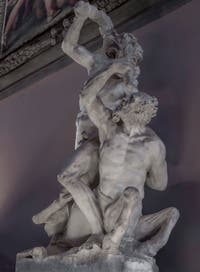 Vincenzo de Rossi, Hercules kills the Centaur Nessos, Hall of the Five Hundred of Palazzo Vecchio in Florence