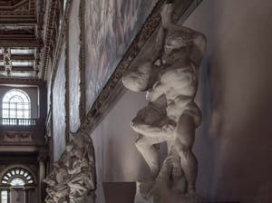 Vincenzo de Rossi, Hercules punishes King Diomedes, Hall of Five Hundred of Palazzo Vecchio in Florence