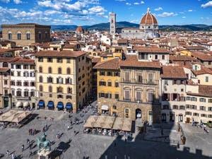 The Piazza della Signoria in Florence in Italy