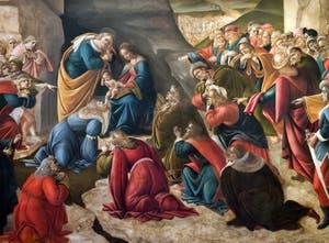 Botticelli, The Adoration of the Magi 1490-1500, Uffizi Gallery, Florence Italy