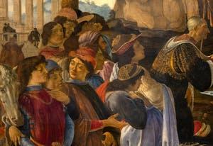 Botticelli, The Adoration of the Magi Altar Piece of Santa Maria Novella, Uffizi Gallery, Florence Italy