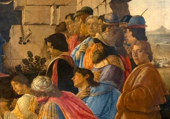 Botticelli, The Adoration of the Magi with Botticelli self-portrait on the right