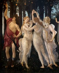 Botticelli, An Allegory of Spring, Uffizi Gallery, Florence Italy
