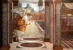 Botticelli, Annunciation of San Martino alla Scala, Uffizi Gallery, Florence Italy