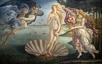 Botticelli, The Birth of Venus, Uffizi Gallery, Florence Italy